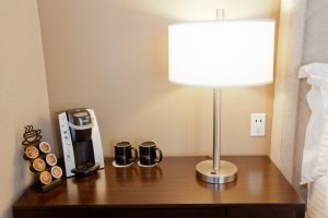 Cardinal Hotel Deluxe type guest room coffee maker