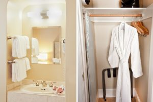 Shared type guest rooms sink and closet
