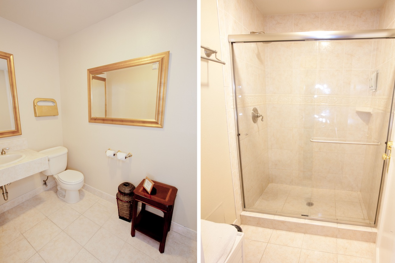 Shared type guest rooms bathroom and shower