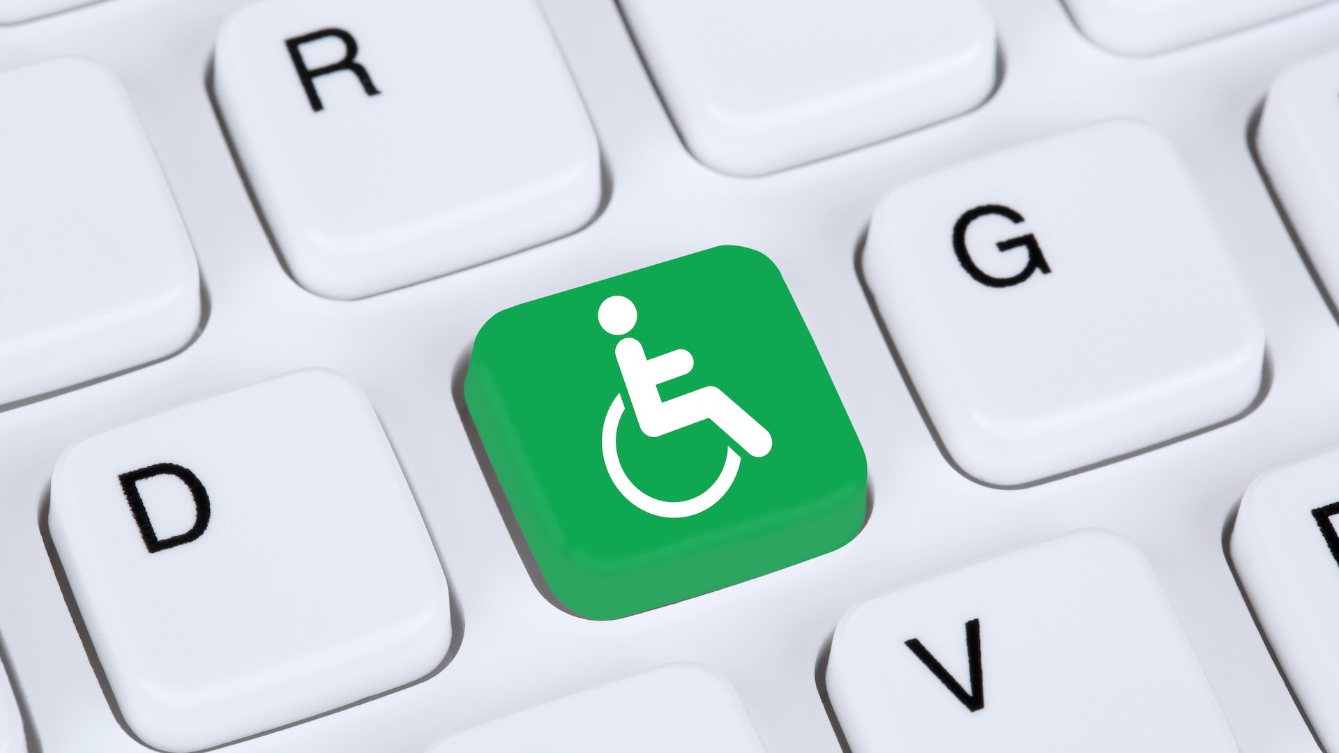 Web accessibility online on internet website computer for people with disabilities