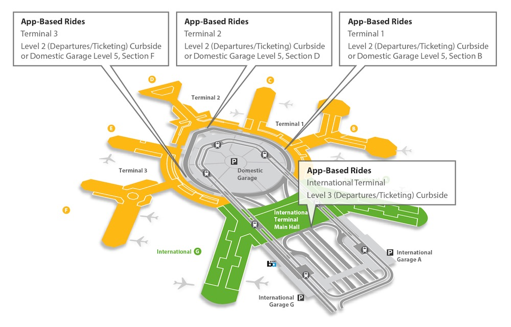 SFO App Based Rides location map
