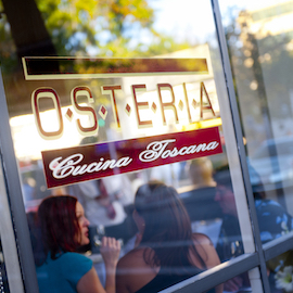 Osteria restaurant window