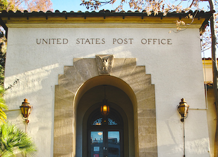 Palo Alto USPS entrance door