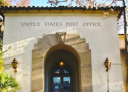 Palo Alto USPS entrance door