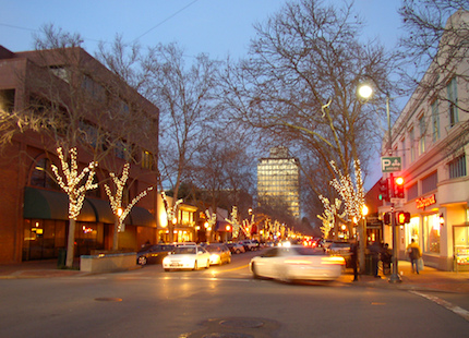 University Avenue in the early evening